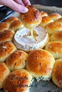カマンベールをセンターに配置したちぎりパン。これは、パーティなどにもぴったりの大人のちぎりパンですね。ワインなどにも合いそうです。