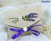 Embroidered envelope lavender sachet
