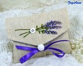 Embroidered envelope lavender sachet