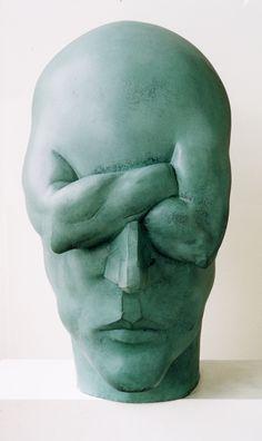 Britt-Ingrid Persson - Muscle Brain, from Activity / Passivity series (bronze) 72 x 37 x 65 cm. Contemporary Sculpture, Contemporary Art, Arte Peculiar, Street Art, Art Design, Design Ideas, Installation Art, Amazing Art, Statues