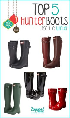 These Hunter Boots will keep you cozy and dry in the cold, wet winter months! Styles come in several colors and boot socks are available for extra warmth. Waterproof boots designed with orthopedic comfort in mind. Order by 12/22/15 for delivery by Christmas Day!