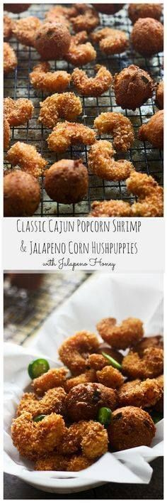 Popcorn Shrimp and C Popcorn Shrimp and Corn Jalapeño...  Popcorn Shrimp and C Popcorn Shrimp and Corn Jalapeño Hushpuppies with Jalapeño Honey