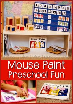 Mouse Paint Preschool Fun- great fun when we work on M with the little men,