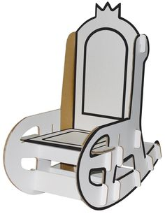 Create your own throne with this big cardboard rocking chair. The rocking chair is very solid and can easily a child up to 20 kg. A must have chai ...