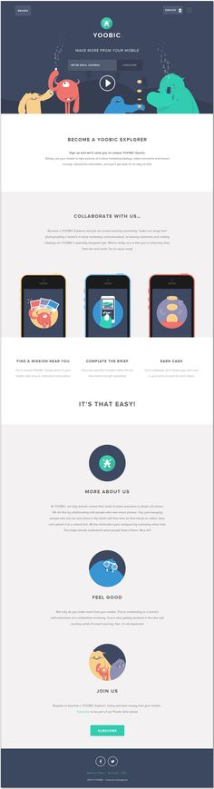Yoobic web design - Like the simple messaging, making it very easy to absorb…