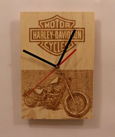 Check out this item in my Etsy shop https://www.etsy.com/listing/493746130/handmade-wooden-wall-clock-harley