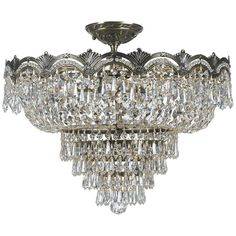 I pinned this Crystorama Majestic Semi-Flush Mount from the Zoe Saldana: Curate for a Cause event at Joss and Main!