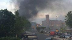 Fire in Camden Town in London. @Osvaldo_Villar via BBC News