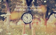 His time is the PERFECT time
