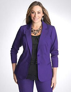 Designed to flatter, you'll love the way you look in this structured jacket with contoured fashion seams, notched lapels and double button closure. Description from pinterest.com. I searched for this on bing.com/images