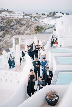 Wedding Goals, Destination Wedding, Wedding Venues, Wedding Photos, Modern Minimalist Wedding, Greece Wedding, White Backdrop, Santorini, Getting Married