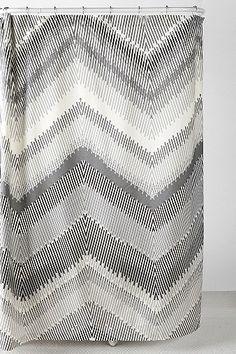 Linear Chevron Shower Curtain