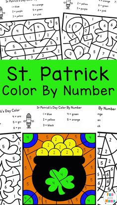 These St. Patrick's Day Color by Number Printables are great for preschool and early learners. They're fun to color and make great pictures, too! Rainbow Activities, Craft Activities For Kids, Counting Activities, Kids Crafts, Numbers For Kids, Numbers Preschool, Play Based Learning, Early Learning, Kindergarten Homeschool Curriculum