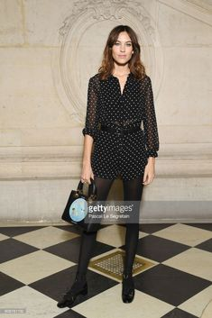 Alexa Chung attends the Christian Dior Haute Couture Spring Summer 2018 show as part of Paris Fashion Week on January 22, 2018 in Paris, France.