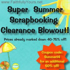 Looking for a deal on scrapbooking supplies?