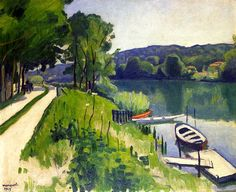 La Varenne, The Red Boat / Albert Marquet