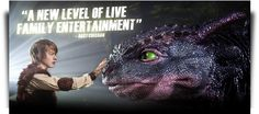 How To Train Your Dragon Live Spectacular | Official North America Tour Website...WE LOVE DRAGONS!!!