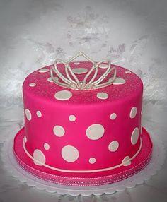 Hot Pink Princess Party Cake