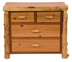 4 Drawer Low-Boy Log Dresser