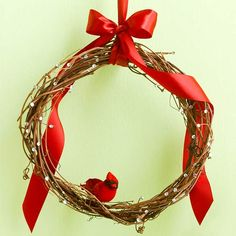 Cardinal Wreath.  These would be nice hanging in my living room windows, since my Christmas tree is in the foyer.