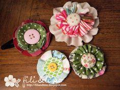 Tutorial: Easy peasy fabric flower hair clip