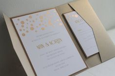 Gold Wedding Inspiration (gold invitation: golden silhouette)