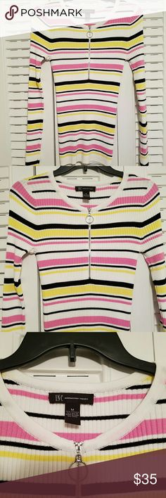 Brand New,I.N.C. multi striped top Adorable mixed colored top . Mint condition, never worn still has tags I.N.C. Tops
