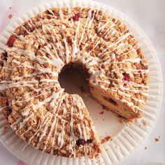 Craving a not-too-sweet cake for your coffee? Try this buttery raspberry and streusel coffee cake. Find the recipe at Chatelaine.com