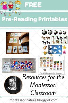 Free Pre-Reading Printables.
