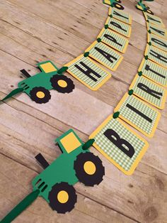 Tractor Birthday Banner by BellsNBerries on Etsy