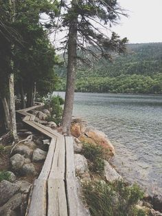 Acadia National Park - Jordan Pond An easy trail that is beautiful even on overcast days.