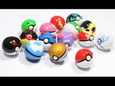 Pokémon Pokeball 15 designs polymer clay tutorial