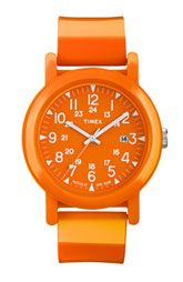 Timex® 'Camper' Strap Watch--just bought this. I am smitten with all things orange!