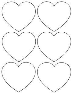 Gabarit coeur a imprimer
