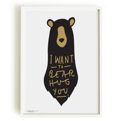 Quality Bear hug Print A4  home decor by OldEnglishCo on Etsy, £15.00