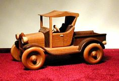 1921 Model T Pickup Handcrafted Wooden. $90.00, via Etsy.