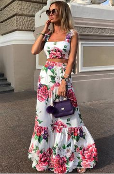 Fashion Sexy Women Printed Colour Braces High Waist Dress – maxi dress casual outfit,vacation maxi dress,womens long maxi dress,maxi dress summer casual,floral maxi dress Source by EBUYCHIC dresses Maxi Dress Summer, Casual Summer Dresses, Floral Maxi Dress, Long Summer Skirts, Dress Prom, Summer Outfits, Elegant Dresses, Sexy Dresses, Formal Dresses