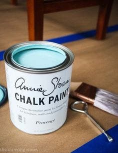 Annie Sloan Chalk Paint in Provence - - such a calming color!