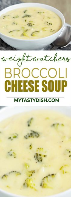 Broccoli Cheese Soup come with 3 Weight Watchers FreeStyle Smart Points Salade Weight Watchers, Plats Weight Watchers, Weight Watchers Soup, Weight Watchers Smart Points, Weight Watcher Dinners, Dessert Weight Watchers, Weight Watchers Lunches, Healthy Soup Recipes, Ww Recipes