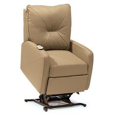 Palliser Furniture Theo Lift Chair Upholstery: All Leather Protected - Tulsa II Jet, Leather Type: Leather PVC/Match, Type: Power