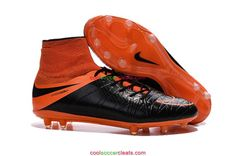 5b01bd47d460 Nike Hypervenom Phantom II Leather FG Soccer Cleats Black Total Orange  Black Neymar