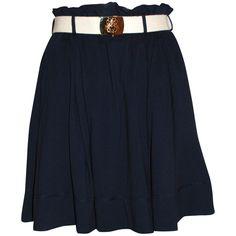 KAREN WALKER Belted Swing Skirt, found on polyvore.com