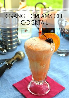 This Boozy Orange Creamsicle is for Adults Only. Your favorite summer treat gets spiked with orange liqueur and vodka.