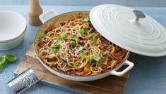 Spaghetti Recipes, Pasta Recipes, Cooking Recipes, Bbc Recipes, Bbc Good Food Recipes, Easy Cooking, Yummy Recipes, Free Recipes, Delicious Desserts