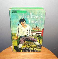 Gullivers Travels, 1963 Vintage book, Hard back, Jonathan Swift