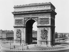 Paris. Arc de Triomphe between 1851 and 1870  Old by GalleryLF