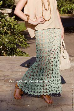 Юбка Капли лета - мятный,однотонный,юбка,юбка в пол,юбка длинная,юбка летняя
