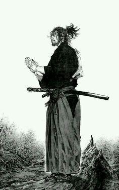 Vagabond - Manga Samurai Poster black and white sketch samurai ninja Ronin Samurai, Samurai Warrior, Ninja Warrior, Vagabond Manga, Cooler Stil, Samurai Artwork, Miyamoto Musashi, Samurai Tattoo, Art Anime
