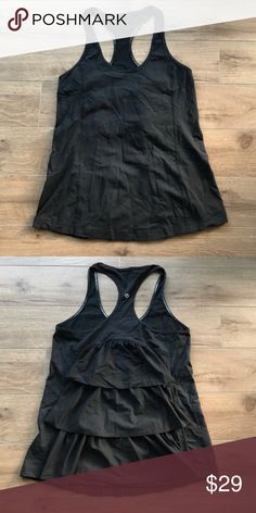 Lululemon racer back tank top Rare find Lululemon tank top. Super stylish and comfy. Excellent condition. From non-smoke, non-pet home. Don't forget to add any two things in my closet and receive an extra 10% off! no trades lululemon athletica Tops Tank Tops