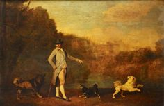 1782 by George Stubs. Spitz type dogs.
